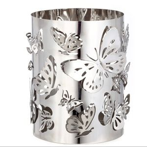 Set of 2 Tall Butterfly Metal Candle Holders